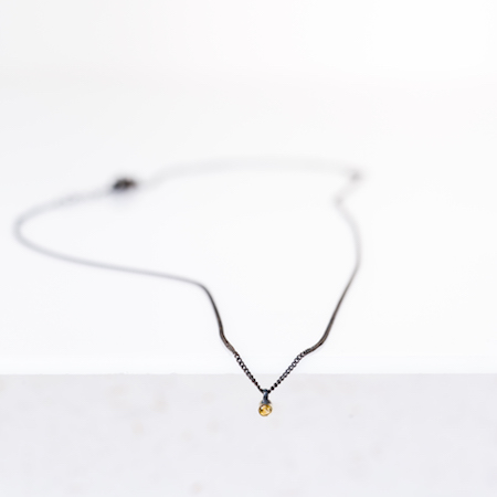 Jewel: necklace black citrine