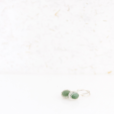 Jewel: earrings aventurine